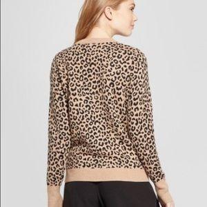 Sweaters - Leopard Print Sweater